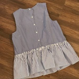 J. Crew Tops - J Crew Striped Peplum Blouse